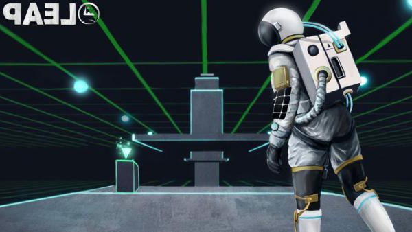 Screenshot of astronaut in LEAP game