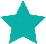 Star icon in turquoise